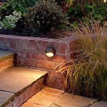 Landscape Lighting along walkway