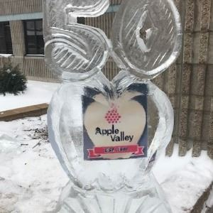 Mid Winter Fest Logo Carved in Ice