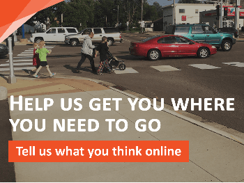 Dakota County Transportation Plan People Walking with Traffic at Intersection