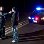 Officer conducting sobriety test