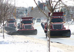 three snow plows
